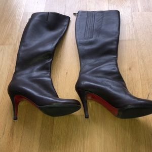 Christian Louboutin brown leather boots